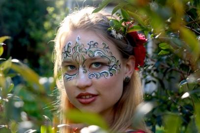 Model: Tegan Muller. Face paint by Sarah Fletcher