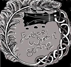 feathers wood n string logo grey backsvg