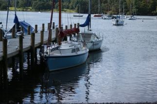 Boats at Ambleside on Lake Windemere